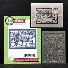 With Deepest Sympathy metal cutting die Impression Obsession dies DIE368-W words