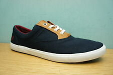 Fred Perry Mens Moffitt Navy Canvas Shoes Trainers Plimsolls Size 7 UK BNIB