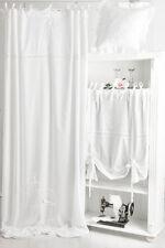 ELVIRA WEISS BESTICKT Gardine 2x(145x250cm) Vorhang Romantik Shabby Franske CHIC
