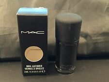 MAC *BLACK ENOUGH?* Nail Polish Lacquer Full Size NIB