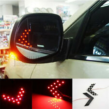 2 Pcs LED Arrow Panel light For Car Rear View Mirror Indicator Turn Signal : Red