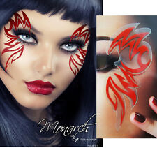 Red Tribal Body Tattoo Sticker Easy Makeup Sexy Flame Demon Halloween Costume