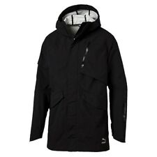 $195 NEW Men's PUMA Evo Tech Parka Jacket Black 571635-01 Storm Cell Size XL