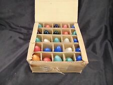 Christmas bulbs box 25 multi colored indoor outdoor tree coverings made vintage