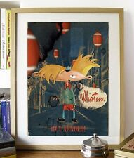 FREE SHIPPING, Cartoon Movie Poster Hey Arnold, Film Helga Pataki Wall Art Print