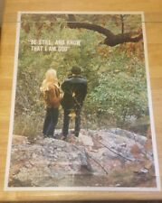 True Vintage 1971  Be Still And Know That I am God Poster Rare Nature Peace