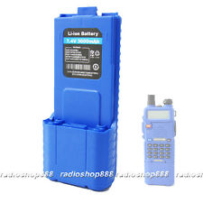 Smart Colour Blue  Ultra High Capacity 3600mAH 7.4V Battery For Baofeng UV-5R