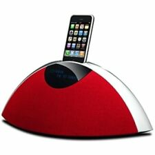 Teac SR-80i R Radio Design con docking station iPod rosso