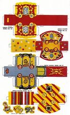 Cut & Assemble CIRCUS Wagons, N scale from a circus set printed on cardstock