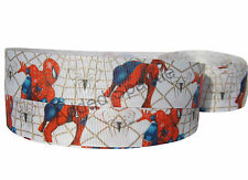SPIDERMAN CHARACTER GROSGRAIN RIBBON 2M X 22mm FOR BIRTHDAY CAKES CARD CRAFT SP5