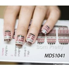14 pcs Nail Wraps Nagelsticker Nail Art Full Sticker MDS1041
