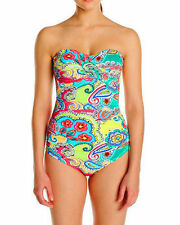 NWT Anne Cole One-Piece Swimsuit Maillot Bra Support Padding Multi Floral Sz 10