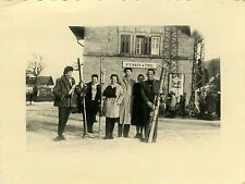 PHOTO ANCIENNE - VINTAGE SNAPSHOT - STEINACH IN TIROL GARE SKI - STATION FUNNY