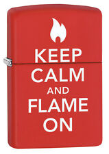 Zippo Red Matte Flame On Windproof Lighter 28671 New