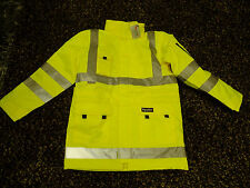 NEW WITH TAGS REFRIGIWEAR HIGH VISIBILITY SAFETY JACKET INSULATED NEON YELLOW