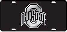 OSU OHIO STATE BUCKEYES Laser Cut Logo Black / Mirror License Plate / Car Tag