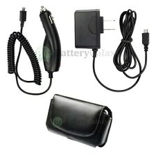 Car +Wall AC Charger+Case Phone for ATT LG c900 Quantum