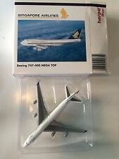 BOEING 747-400 MEGA TOP SINGAPORE AIRLINES AIRLINER 1:500 HERPA MODEL IN BOX WZ