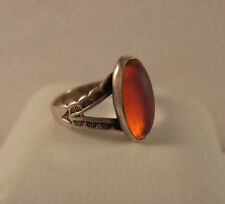 Vintage Sterling Silver Mexico Southwestern Dragon's Breath Signed Ring~Sz.5