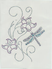 Dragonfly Rhinestone iron on transfer hot fix applique Craft decoration