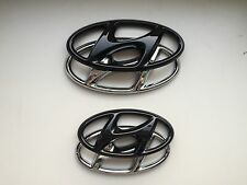 Hyundai Tucson TLE Badge Cover SET highglos Black Emblem Cover hochglanz schwarz