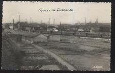 REAL PHOTO POSTCARD ISBERGUES FRANCE RAILROAD YARD WAREHOUSE VIEW 1930'S?