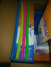 ALL FOUR COLOURS - 4 Plastic Whirly Tube Sound Hose Instrument Science Toys