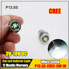 10X P13.5S Flashlight Bulb CREE 5W Emergency Light Bulbs 3V 6V 12V 18V Led Bulb