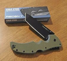 COLD STEEL New OD Green Recon I Black Plain Tanto Blade Knife/Knives