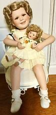 SHIRLEY TEMPLE DANBURY MINT PORCELAIN DOLL, TWO OF A KIND, SHIRLEY AND BABY DOLL