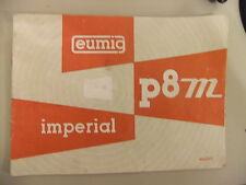 Instructions cine projector EUMIG P8 M Imperial - CD/Email