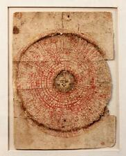 18TH C ANTIQUE INDIAN INK & COLOR ON PAPER MANDALA, GUJARAT, NORTH-WEST INDIA