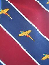 Ruffler By Rooster Tie Embroidered Pheasant Bird Fell The Fell Co. Mens Necktie