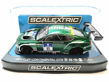 """Scalextric """"Turismo"""" Bentley Continental GT3 DPR W/ Lights 1/32 Slot Car C3713"""