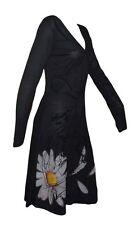 DESIGUAL schönes Kleid schwarz mit Blume Gr.L=DE 38/40 Modell Vest MERITXELL