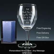 11oz Personalizzato Bicchiere da vino, regalo testimone, regalo di nozze/favore