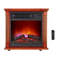 Haier Fireplace Frame Infrared Zone Heater with Dark Oak Finish | HHF15CPC