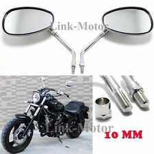 Chrome Motorcycle Rearview front Mirrors for Kawasaki Suzuki Chopper Scooter M10