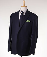 NWT $4295 LUCIANO BARBERA SARTORIALE Dark Blue Stripe Wool Suit 42 R Classic-Fit