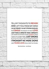 Mumford & Sons - Just Smoke - Song Lyric Art Poster - A4 Size