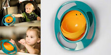 Non Spill Feeding Toddler Gyro XIUS Bowl 360 Rotating Baby Avoid Food Spilling