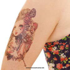 Temporary Fake Tattoo Gothik Grunge Rose Girl Skull Uhr Arm Tatoo - Blitzversand