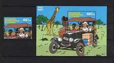 Congo**TINTIN in Congo-SHEET + STAMP from SHEET-2001-Kuifje-TIM & STRUPPI-MNH