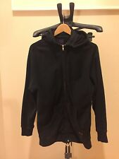Stussy Deluxe Fleece Hoodie Jacket Black Sz M Purple Label removeable Hooded
