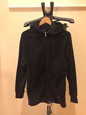 Stussy Deluxe Fleece Hoodie Jacket Black Sz M Purple Label removeable Hooded