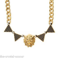 KATY PERRY PRISM LION HEAD & TRIANGLES CHAIN LINK NECKLACE. CLAIRE'S
