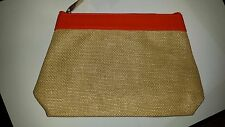 Clarins Summer Pouch Sand Colour- Brand New Make Up Bag