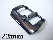 22mm stainless steel  black buckle for 24mm panerai leather watch band pam 111