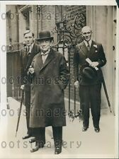 1935 British Premier Stanley Baldwin at 10 Downing Street Press Photo