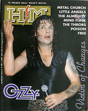 HM 108 1991 Ozzy Osbourne Mindfunk The Almighty Poison Throbs Free Bad Religion